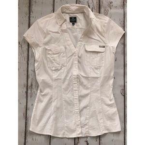 Women's Express Short Sleeve Dress Shirt